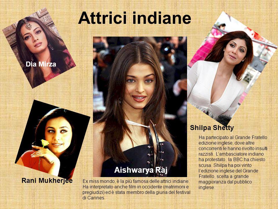 Attrici indiane Aishwarya Raj Dia Mirza Shilpa Shetty Rani Mukherjee