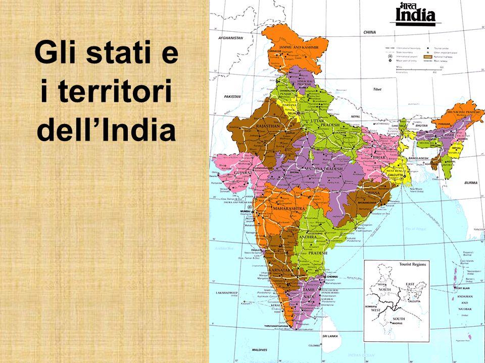 Gli stati e i territori dell'India