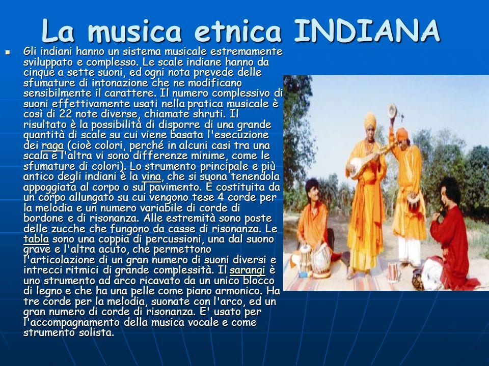 La musica etnica INDIANA
