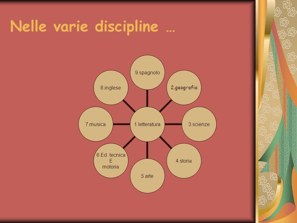 Nelle varie discipline …