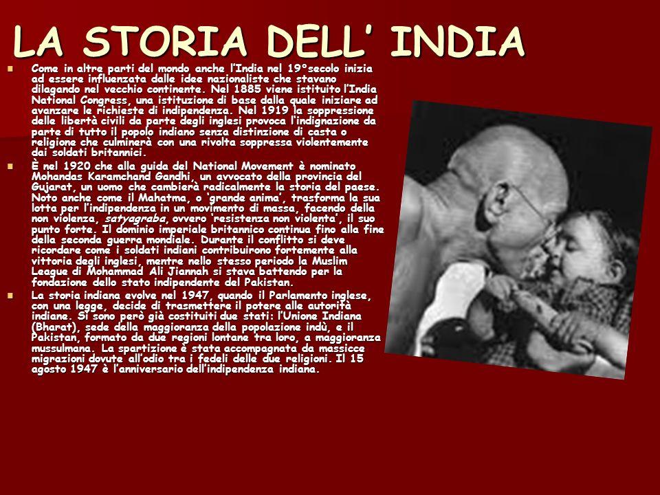 LA STORIA DELL' INDIA