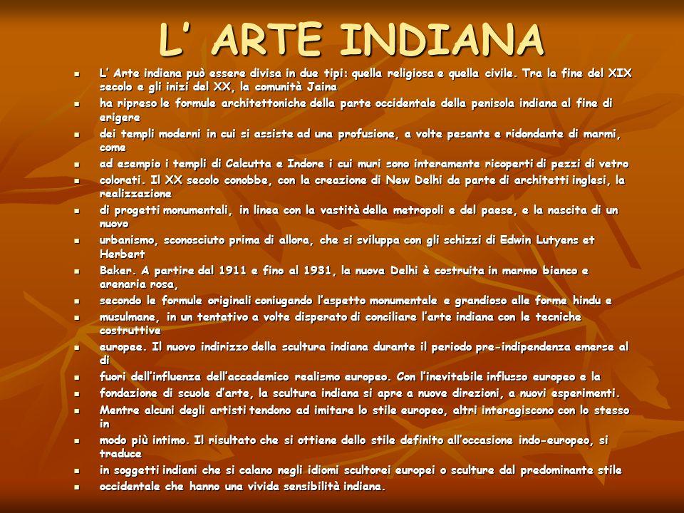 L' ARTE INDIANA