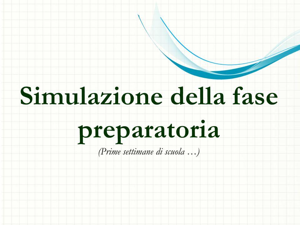 Simulazione della fase preparatoria