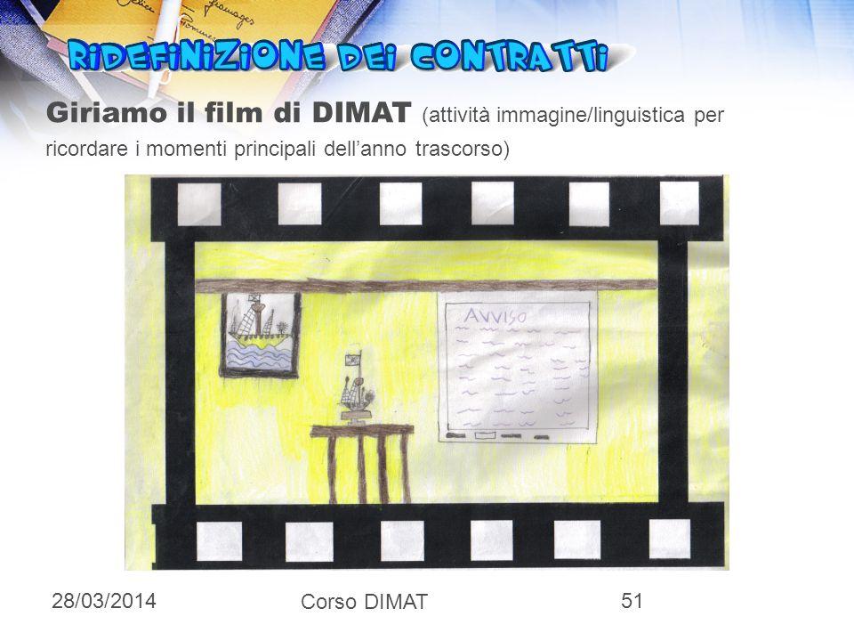 Giriamo il film di DIMAT (attività immagine/linguistica per ricordare i momenti principali dell'anno trascorso)