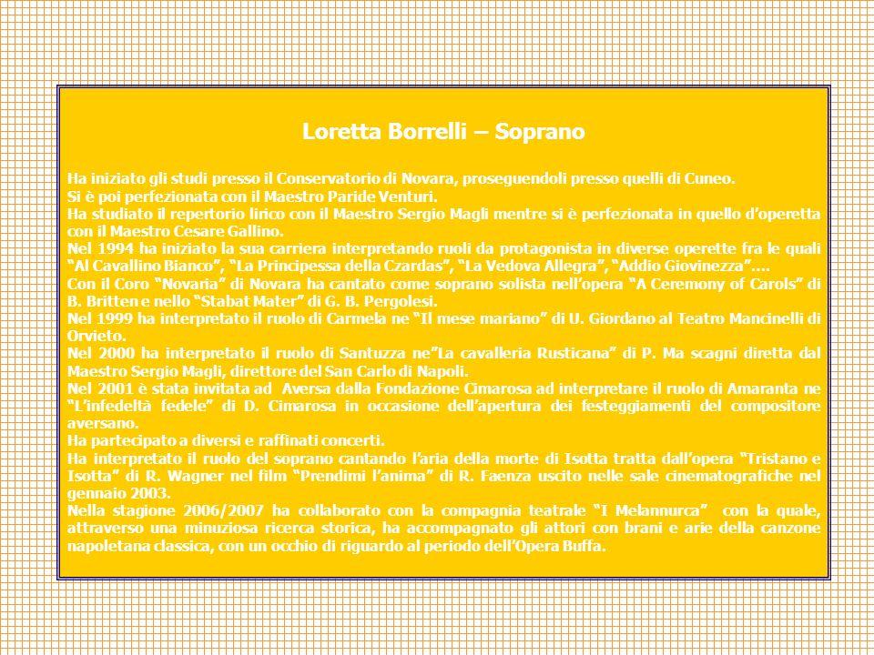 Loretta Borrelli – Soprano