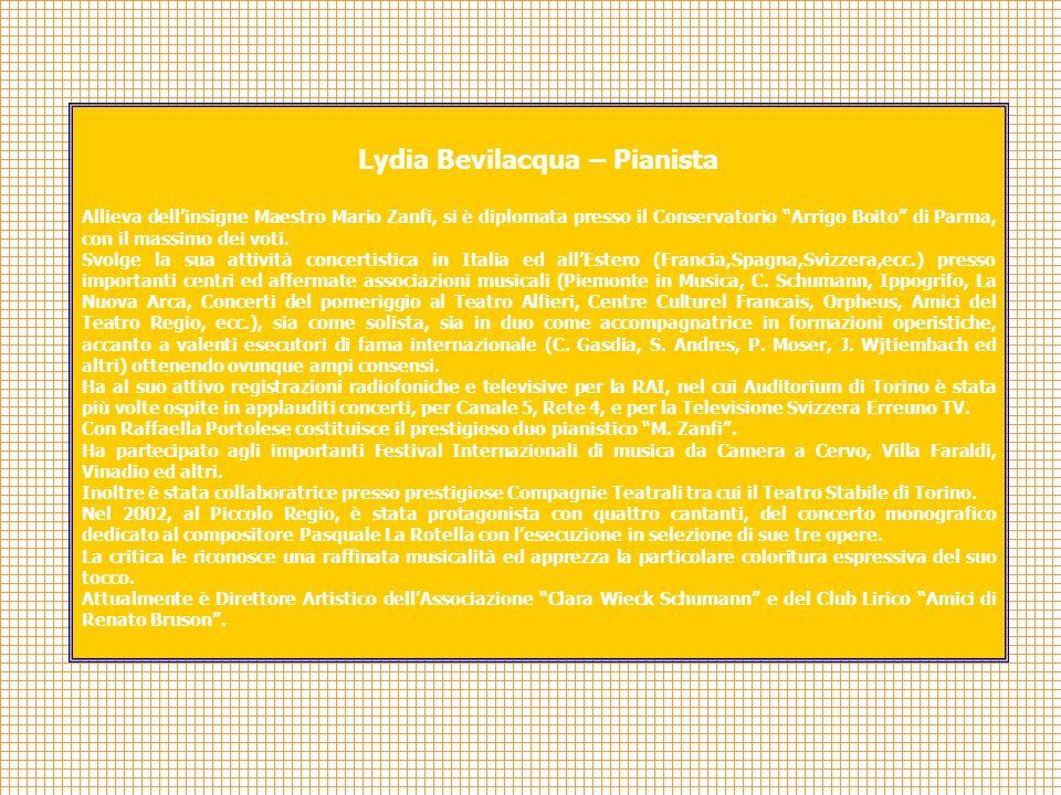 Lydia Bevilacqua – Pianista