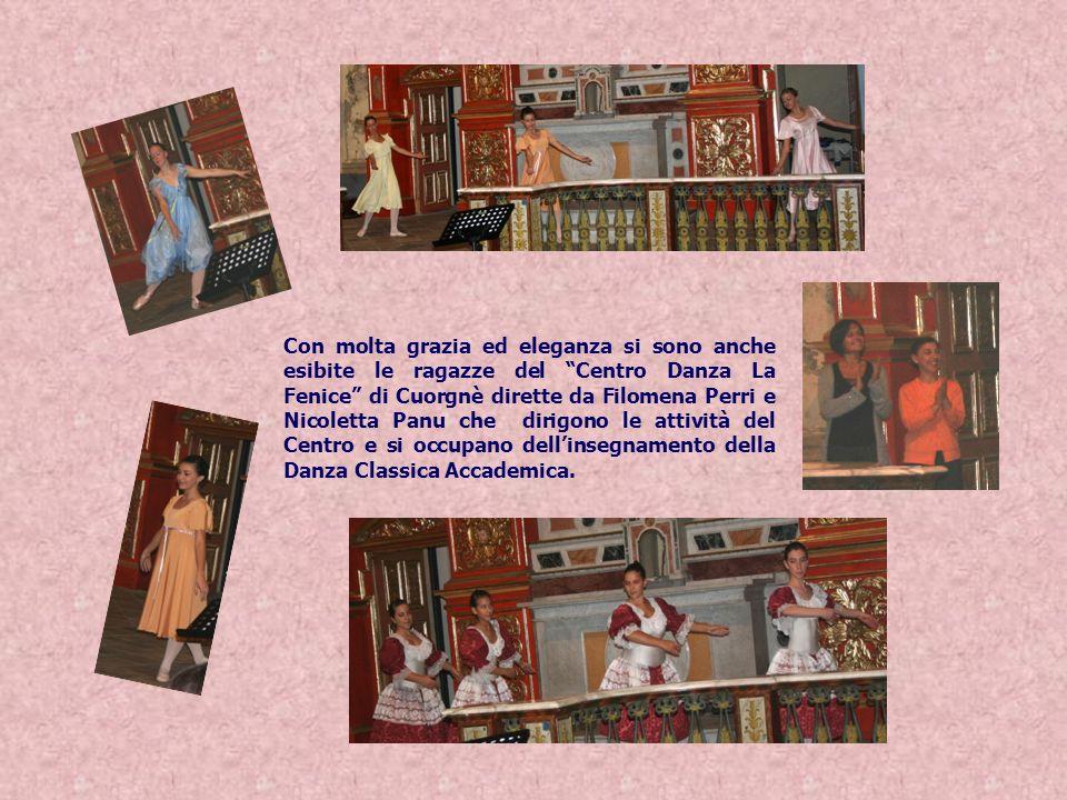 Con molta grazia ed eleganza si sono anche esibite le ragazze del Centro Danza La Fenice di Cuorgnè dirette da Filomena Perri e Nicoletta Panu che dirigono le attività del Centro e si occupano dell'insegnamento della Danza Classica Accademica.
