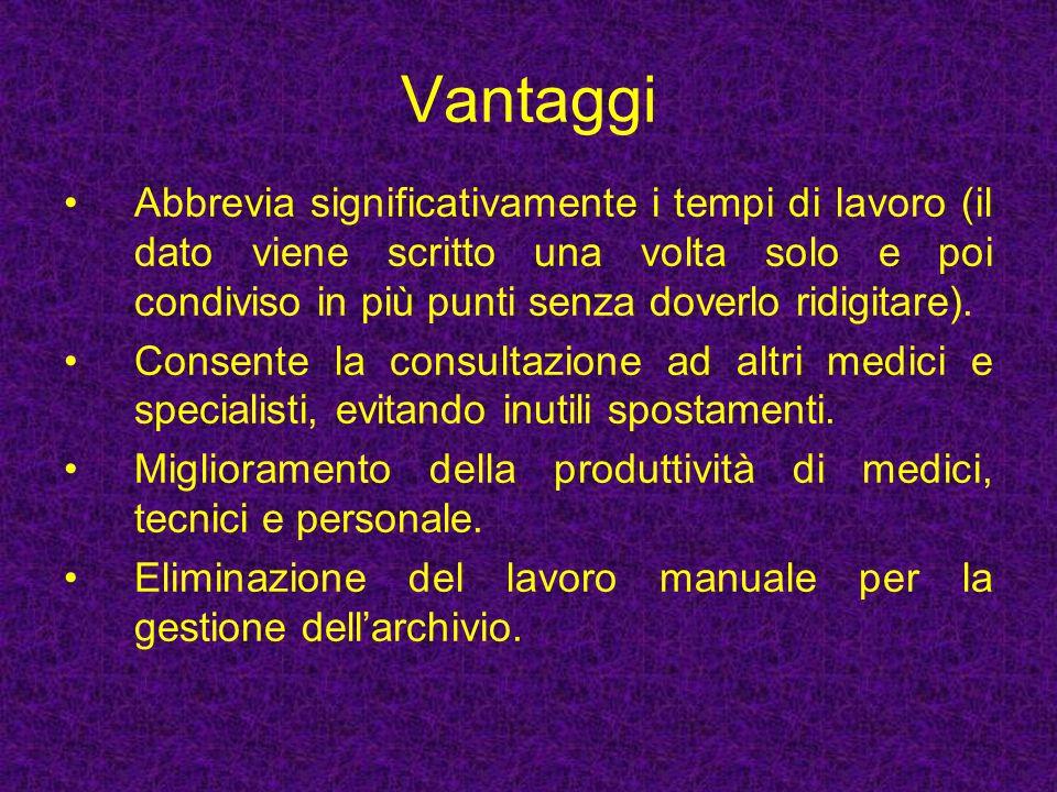 Vantaggi Abbrevia significativamente i tempi di lavoro (il dato viene scritto una volta solo e poi condiviso in più punti senza doverlo ridigitare).