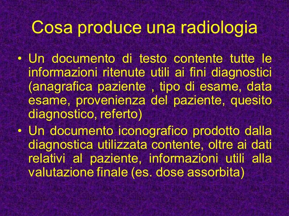 Cosa produce una radiologia