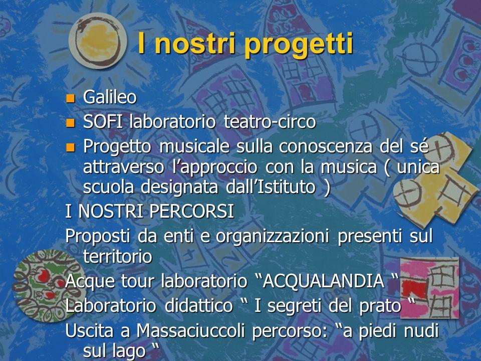 I nostri progetti Galileo SOFI laboratorio teatro-circo