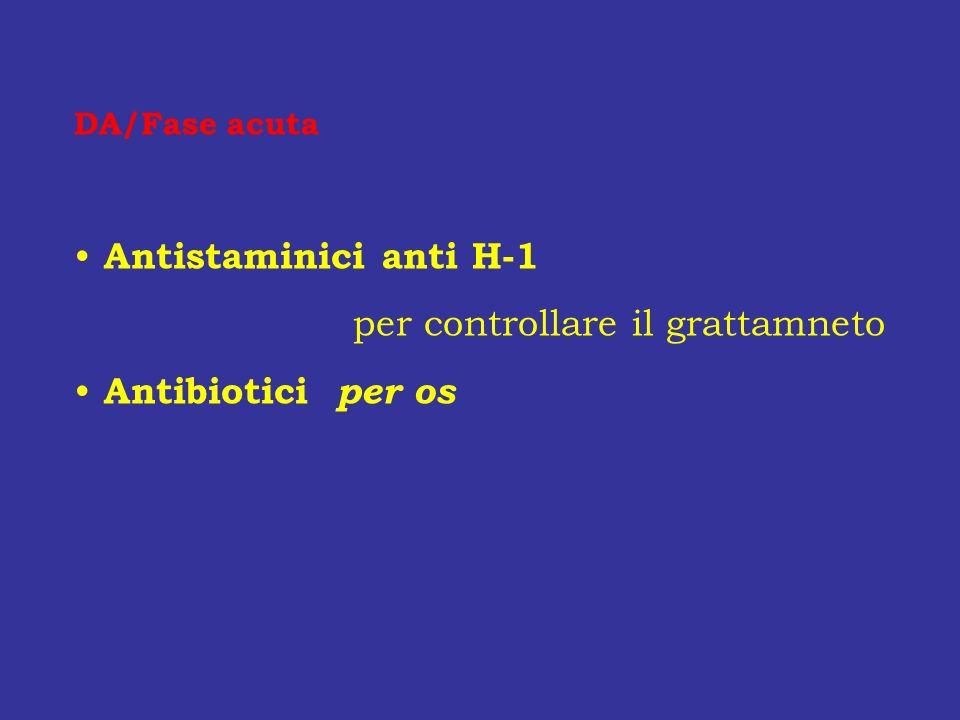 per controllare il grattamneto Antibiotici per os