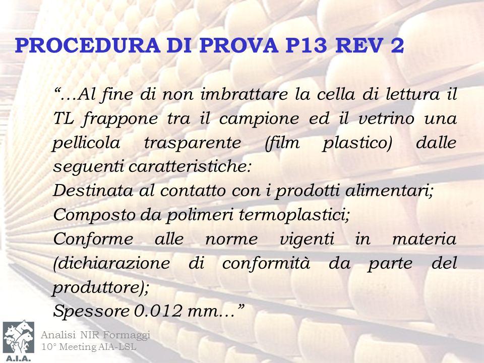 PROCEDURA DI PROVA P13 REV 2