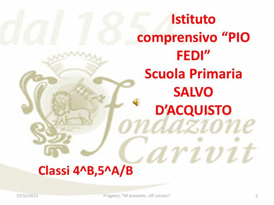 Istituto comprensivo PIO FEDI Scuola Primaria SALVO D'ACQUISTO