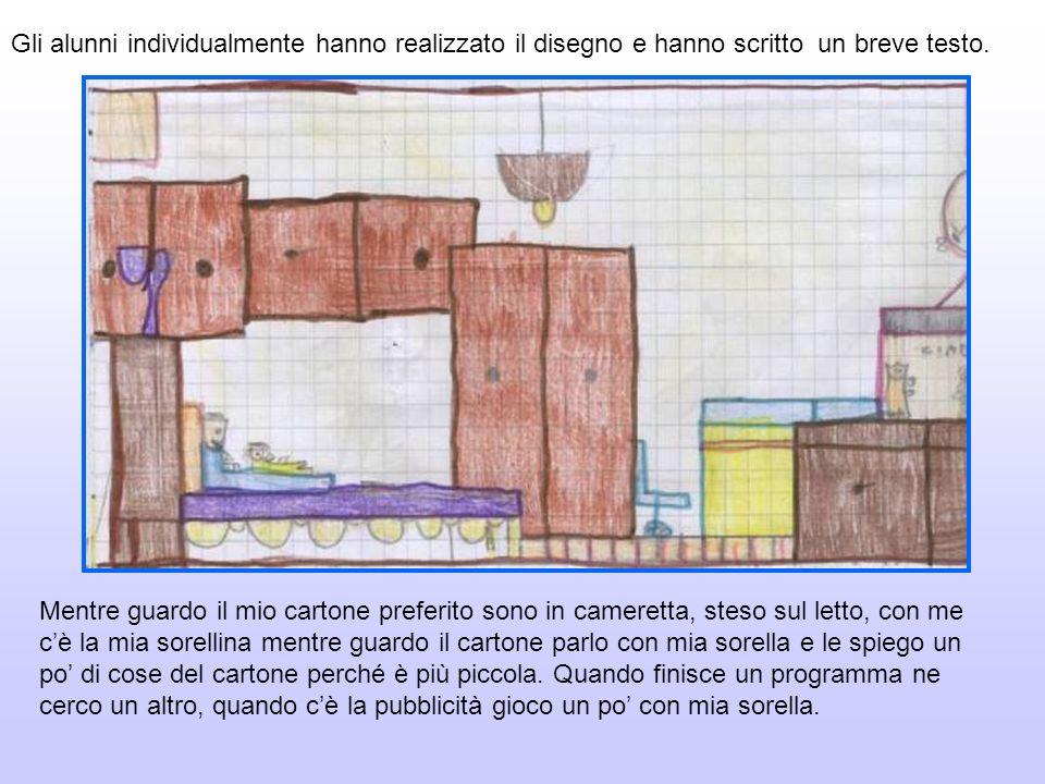 Gli alunni individualmente hanno realizzato il disegno e hanno scritto un breve testo.