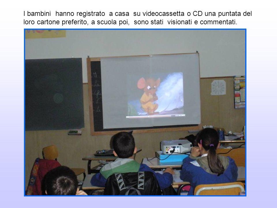I bambini hanno registrato a casa su videocassetta o CD una puntata del loro cartone preferito, a scuola poi, sono stati visionati e commentati.
