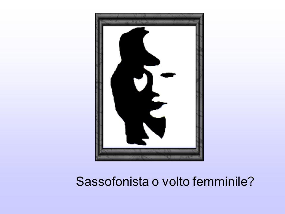 Sassofonista o volto femminile