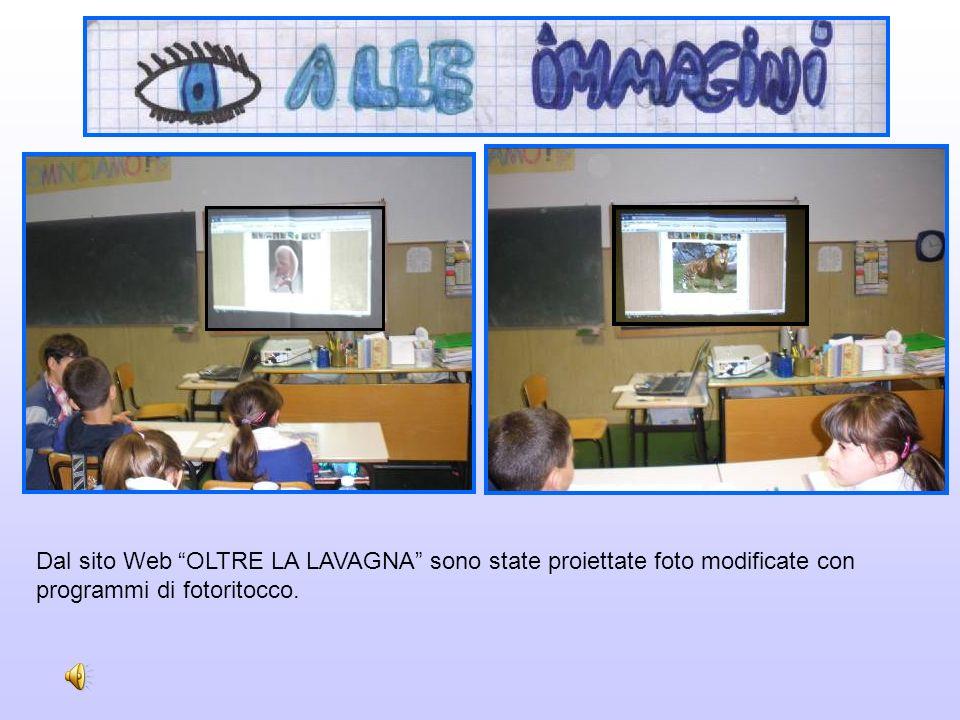 Dal sito Web OLTRE LA LAVAGNA sono state proiettate foto modificate con programmi di fotoritocco.