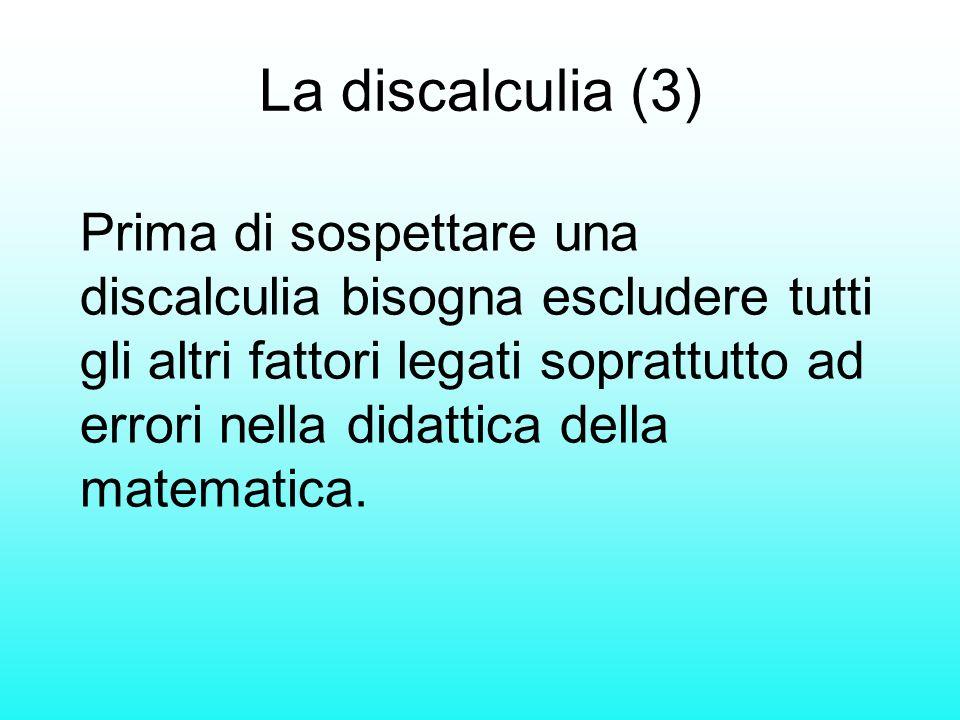 La discalculia (3)