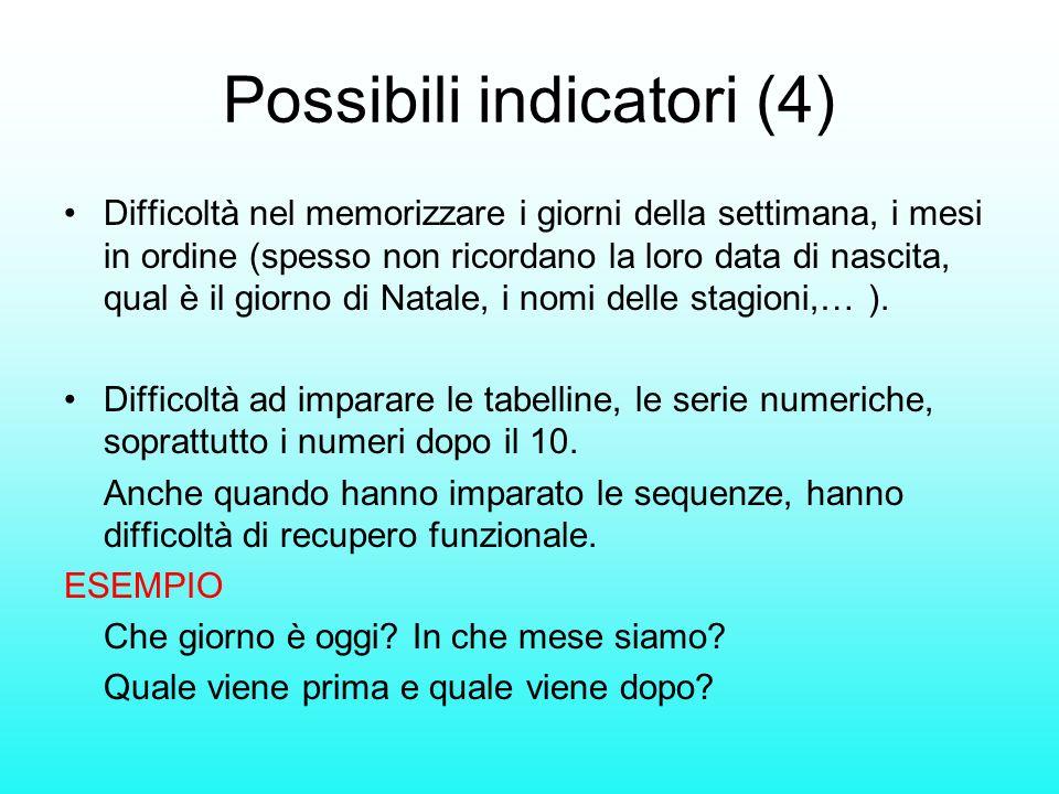 Possibili indicatori (4)
