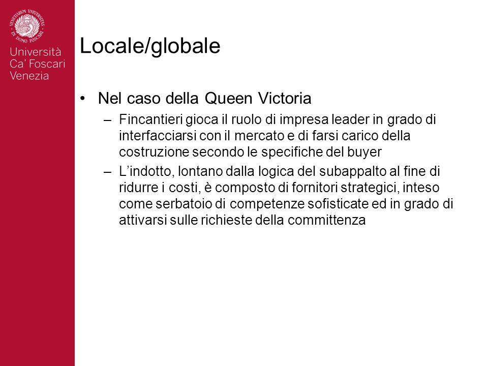 Locale/globale Nel caso della Queen Victoria