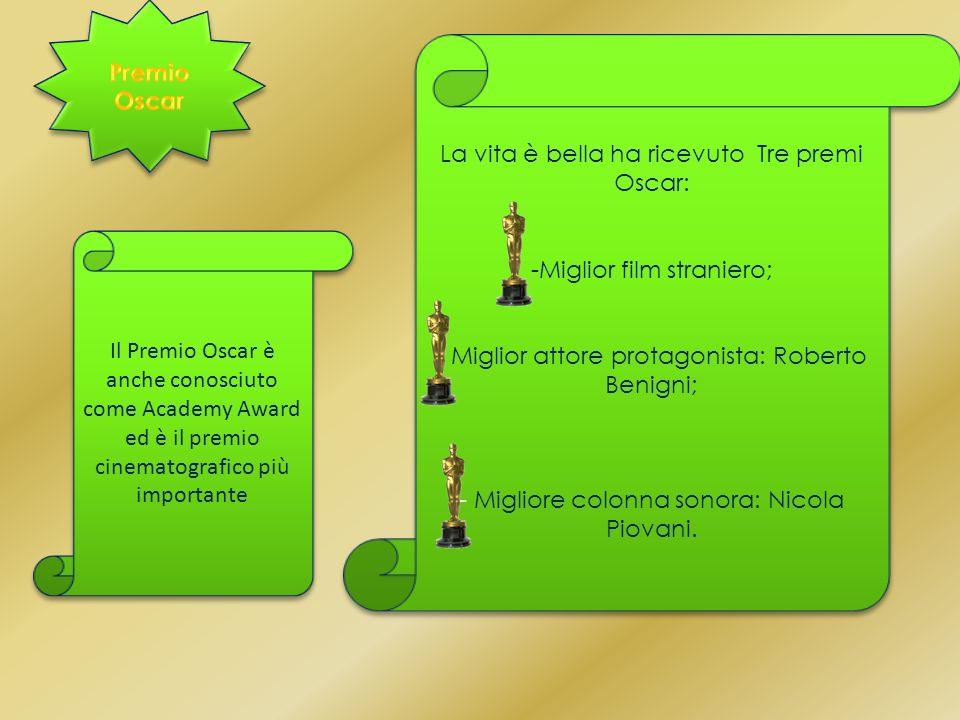 La vita è bella ha ricevuto Tre premi Oscar: