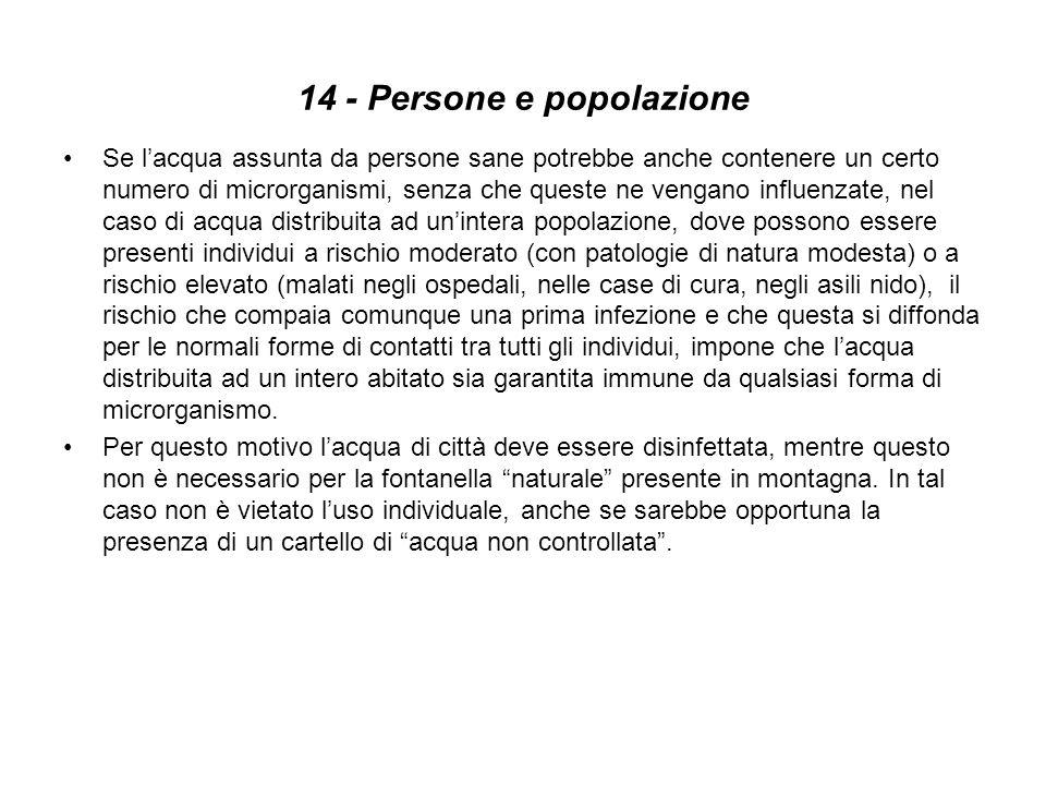 14 - Persone e popolazione