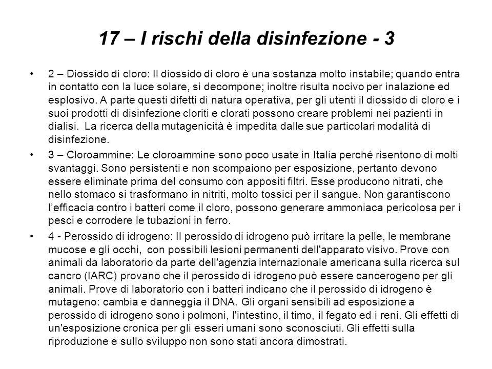 17 – I rischi della disinfezione - 3