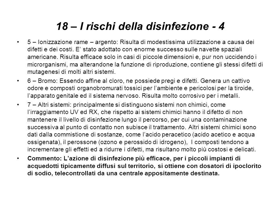 18 – I rischi della disinfezione - 4
