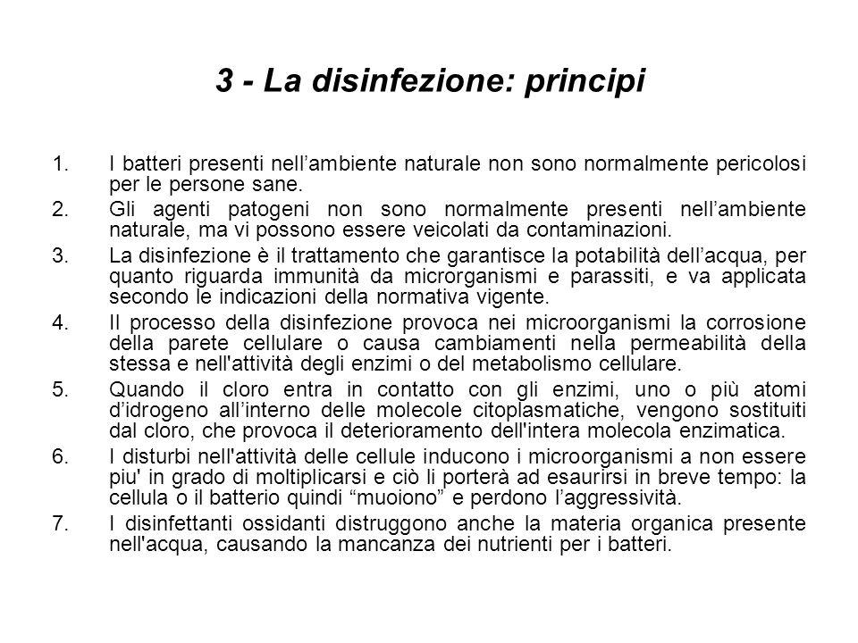 3 - La disinfezione: principi