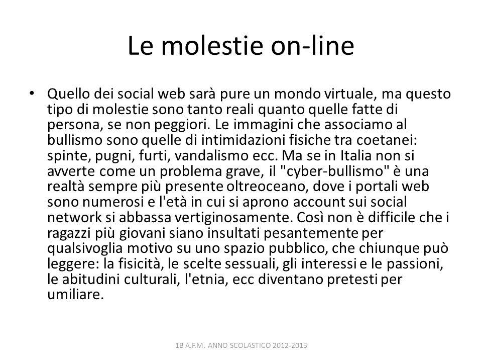 Le molestie on-line
