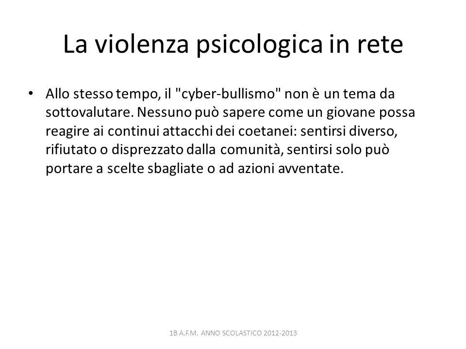La violenza psicologica in rete