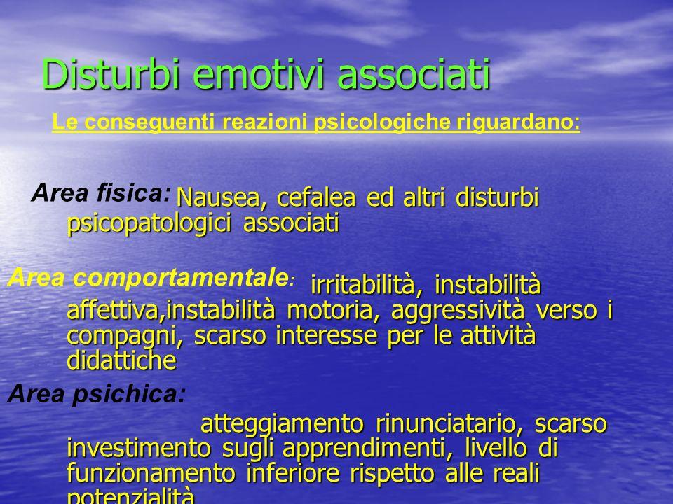Disturbi emotivi associati