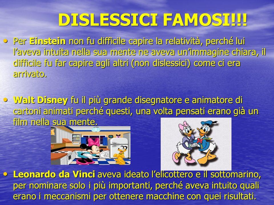 DISLESSICI FAMOSI!!!