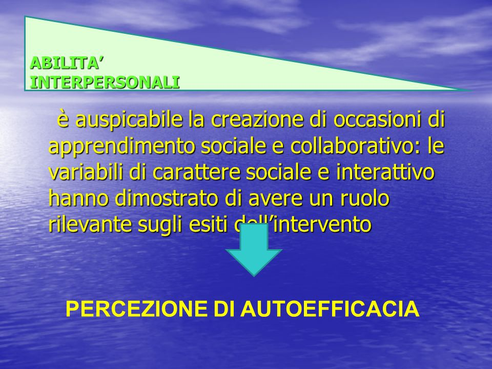 ABILITA' INTERPERSONALI