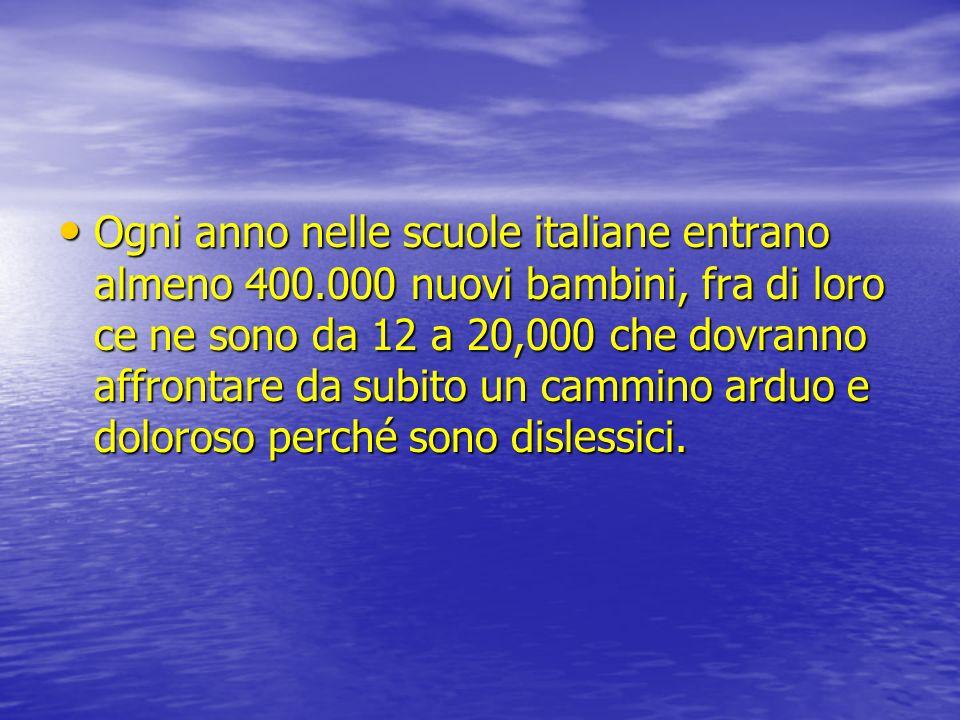Ogni anno nelle scuole italiane entrano almeno 400