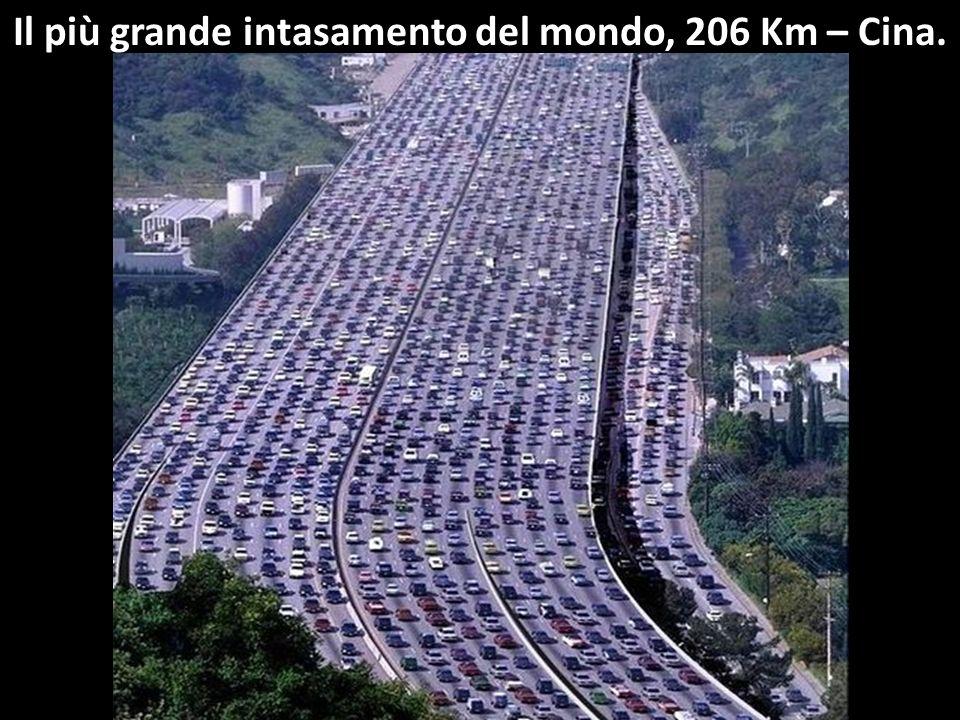 Il più grande intasamento del mondo, 206 Km – Cina.