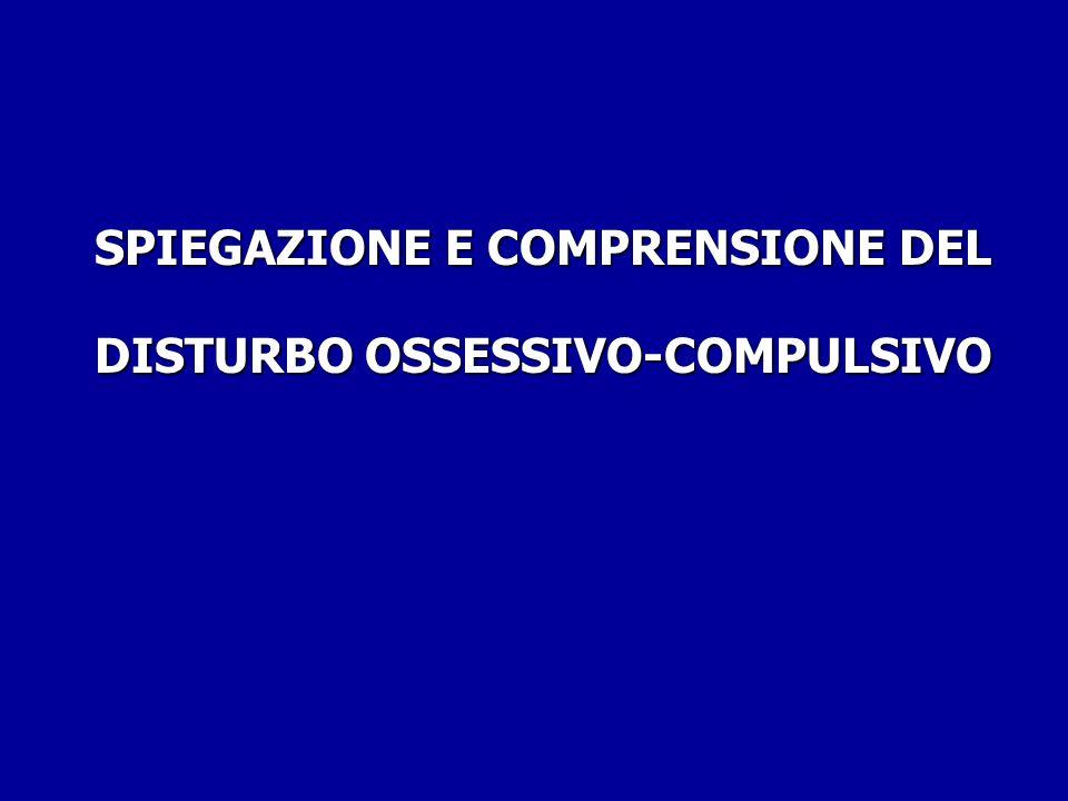 SPIEGAZIONE E COMPRENSIONE DEL DISTURBO OSSESSIVO-COMPULSIVO