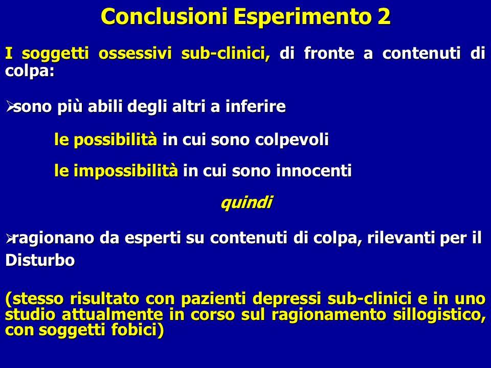 Conclusioni Esperimento 2