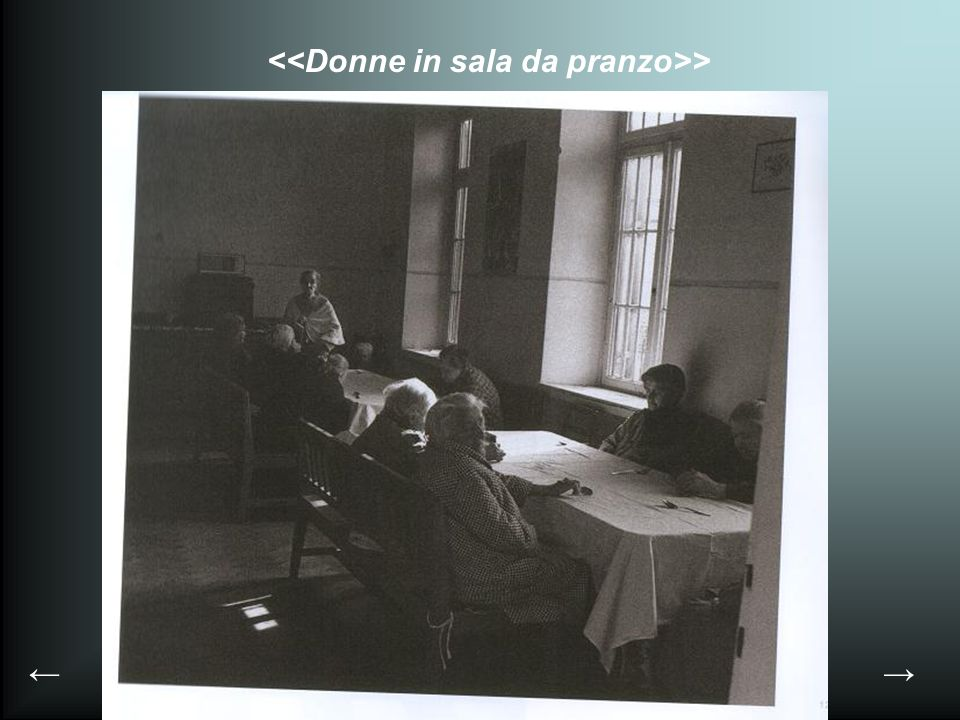 <<Donne in sala da pranzo>>