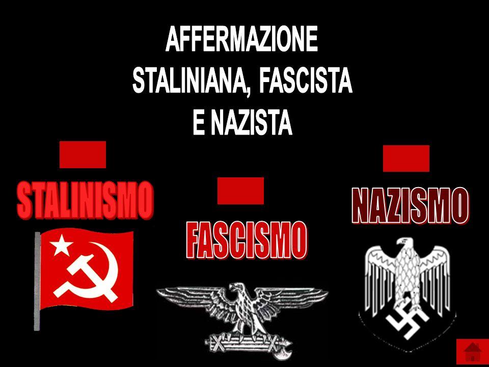 AFFERMAZIONE STALINIANA, FASCISTA E NAZISTA STALINISMO NAZISMO FASCISMO