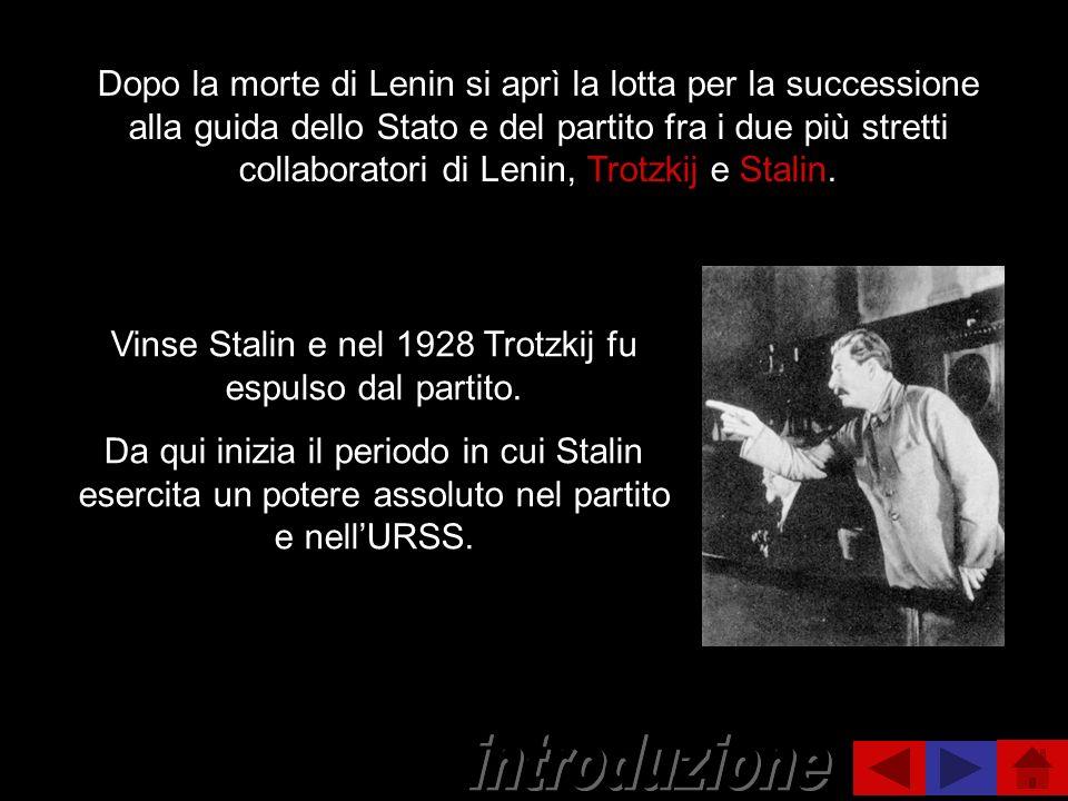 Vinse Stalin e nel 1928 Trotzkij fu espulso dal partito.