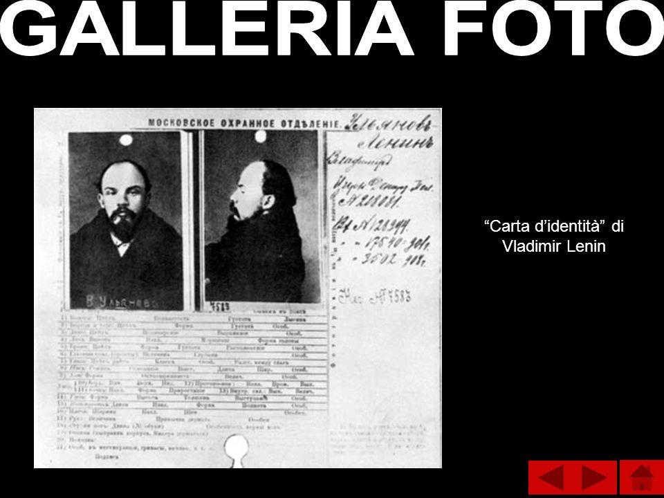 Carta d'identità di Vladimir Lenin