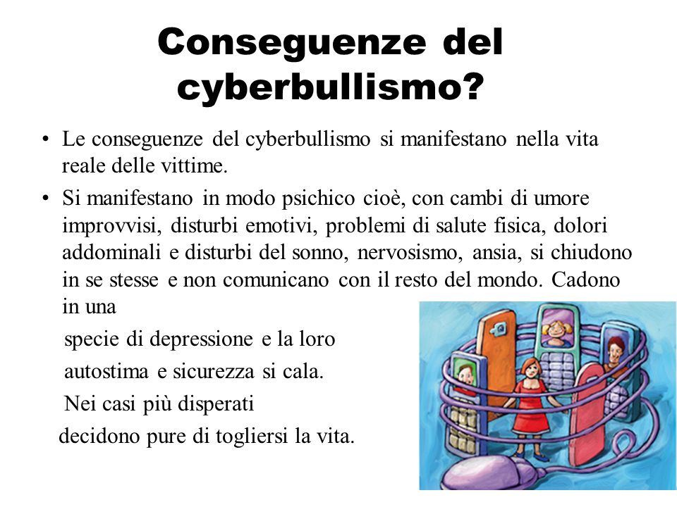 Conseguenze del cyberbullismo