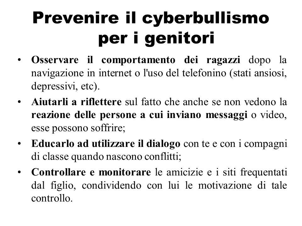 Prevenire il cyberbullismo per i genitori