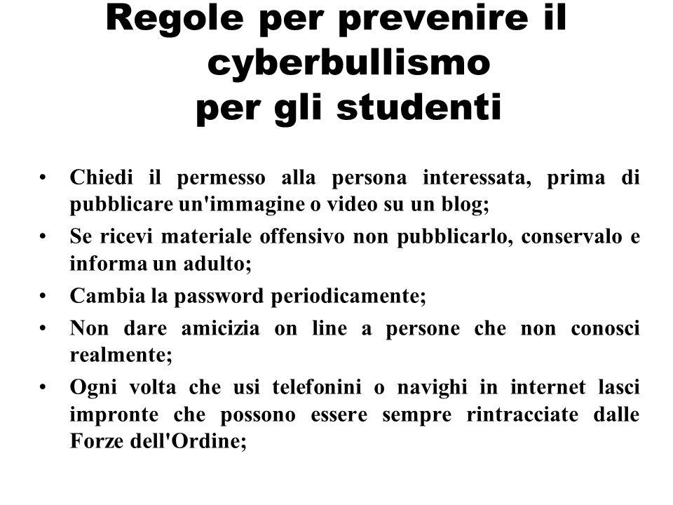 Regole per prevenire il cyberbullismo per gli studenti