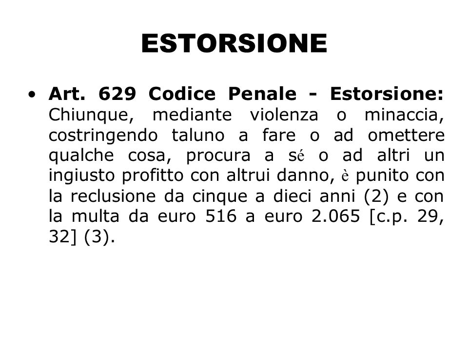 ESTORSIONE