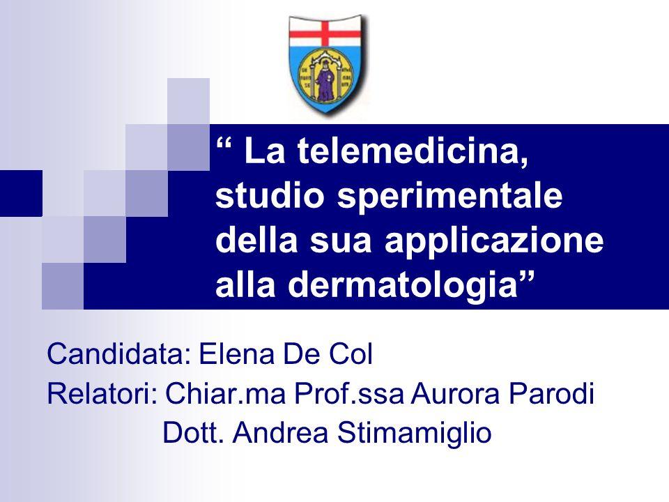 La telemedicina, studio sperimentale della sua applicazione alla dermatologia