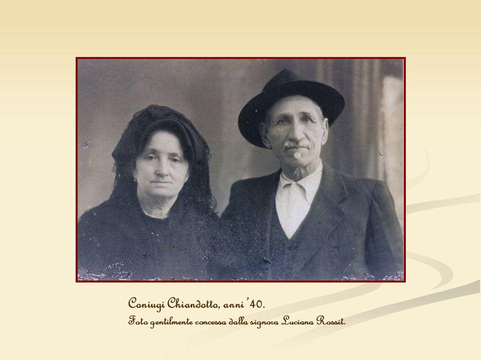 Coniugi Chiandotto, anni '40.