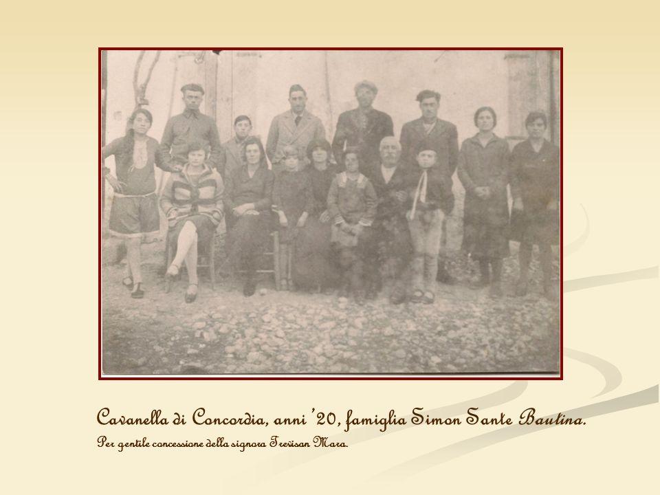 Cavanella di Concordia, anni '20, famiglia Simon Sante Bautina.