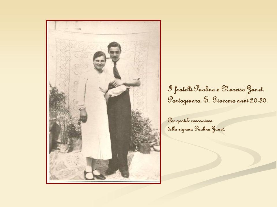 I fratelli Paolina e Narciso Zanet.